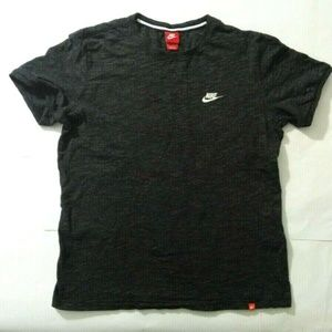 Nike Logo Embroidered Vintage T-Shirt Top Grey XL